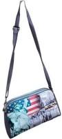 Trosss Women Casual Grey Leatherette Sling Bag