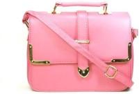 Blue-Tuff Girls Casual Pink PU Sling Bag