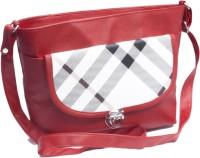 Voaka Girls, Women Red, White Leatherette Sling Bag
