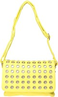Feliza Women, Girls Casual Yellow Leatherette Sling Bag
