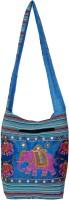 Womaniya Women, Girls Casual Blue Canvas Sling Bag
