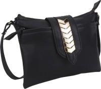 Aditya Vikram Design Studio Girls, Women Casual Black Leatherette Sling Bag
