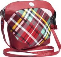 Voaka Girls, Women Red, Green, White Leatherette Sling Bag
