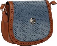 Lino Perros Women Casual Blue Leatherette Sling Bag