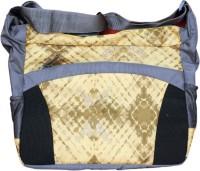 Avani Industries Boys, Girls Casual Yellow, Grey Nylon Sling Bag