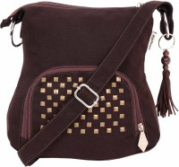 Pick Pocket Women Casual Brown Canvas Sling Bag