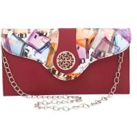 Liana Bags Girls Casual Maroon, Multicolor PU Sling Bag