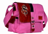 Hawai Women Casual Pink Canvas Sling Bag
