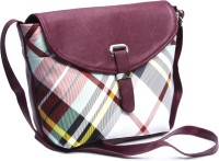Voaka Girls, Women Maroon, Multicolor Leatherette Sling Bag