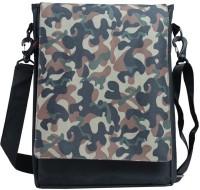Leaf Men, Women Casual Green, Black Nylon Sling Bag
