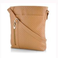 Rosemary Girls Casual Beige Leatherette Sling Bag