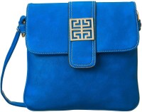 Cappuccino Women Casual Blue Genuine Leather Sling Bag