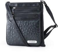 Falah Bag Works Women Black PU Sling Bag