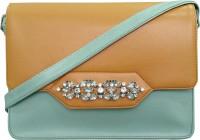 Toteteca Bag Works Women Formal Brown, Blue Leatherette Sling Bag