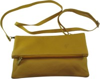 Faith Women Casual, Evening/Party Yellow Genuine Leather Sling Bag