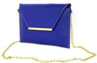 Shore Women Casual Blue PU Sling Bag