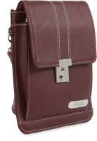 Murcia Women Maroon Genuine Leather Sling Bag