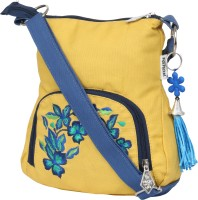 Pick Pocket Women Yellow Canvas Sling Bag