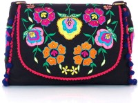 Shaun Design Floral Embroidered Cross Body Small Sling Bag - SLBDX5HKYHF9YWFQ