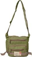 Arshia Men Casual Green Canvas Sling Bag