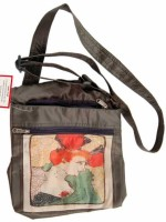 The Museum Outlet Girls Multicolor Canvas Messenger Bag - SLBECQYZVGBF9WGV