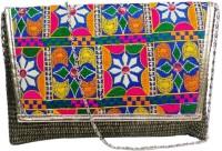 Bhamini Kutch Bharat Large Sling Bag - Black-01