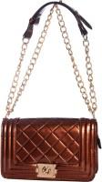 Eleegance Women Casual Brown PU Sling Bag