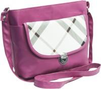 Voaka Girls, Women Pink, White Leatherette Sling Bag