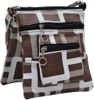 Hawai Pattern Style Small Sling Bag - Brown-01