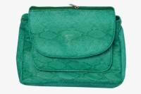 Surmount Girls, Women Casual, Formal, Evening/Party Green PU Sling Bag