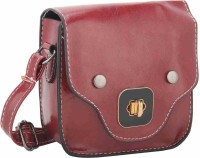 Jewelizer Women Maroon PU Sling Bag