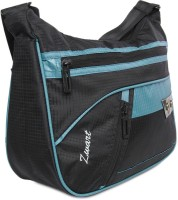 Zwart 314104BB Medium Sling Bag - Black, Turquoise