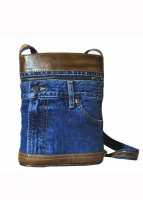 Hibiscus Fusion2 Small Sling Bag - Brown-Blue-12