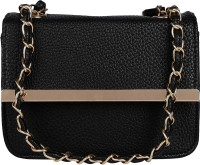 ToniQ Girls, Women Black PU Sling Bag
