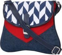 Pick Pocket Women Blue Canvas Sling Bag