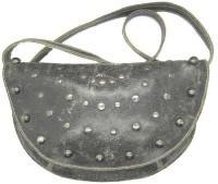 IESD Girls Casual Black Genuine Leather Sling Bag