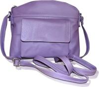Style 98 Girls Purple Genuine Leather Sling Bag