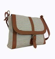 Carry On Bags Nautical Stripes Medium Sling Bag (Cream)