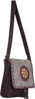 Jaipur Textiles Hub Women Casual Brown Cotton Sling Bag