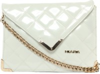 Kiara Women Evening/Party White Leatherette Sling Bag
