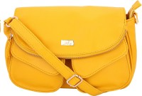 Yelloe Girls Casual Yellow Genuine Leather Sling Bag