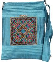 Merci Women Casual Blue Cotton Sling Bag