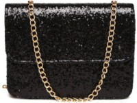 Toniq Girls, Women Evening/Party, Casual, Festive Black PU Sling Bag