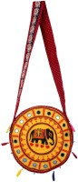 Rajrang Women Yellow Cotton Sling Bag