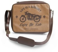 Happily Unmarried Men, Women Casual Brown PU Sling Bag