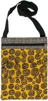 Bhamini Women Yellow Cotton Sling Bag