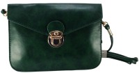 Gift Island Girls Casual Green Leatherette Sling Bag