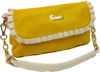 Bagzmania Girls, Women Casual, Formal, Evening/Party Yellow Leatherette Sling Bag