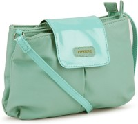 Peperone Women Blue, Green Artificial Leather Sling Bag