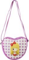 Heels & Handles Women Purple Leatherette, PU Sling Bag